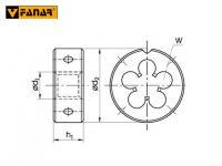 Плашка М4.5х0.75 DIN-EN 22 568 HSS fanar