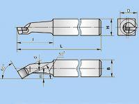 Різець розточний для наскрізних отворів 25х25х200 ВК8