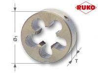 Плашки RUKO для метричної різі М 5х0,8* DIN EN 22568 HSS